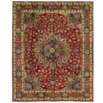 Persian Hand-knotted Mashad Wool Rug (9'11 x 12'3) 1