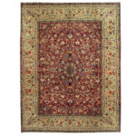 Persian Hand-knotted Yazd Wool Rug (10' x 13') 1