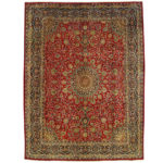 Persian Hand-knotted Mashad Wool Rug (9'9 x 12'10) 1