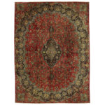 Persian Hand-knotted Mashad Wool Rug (9'4 x 12'8) 1