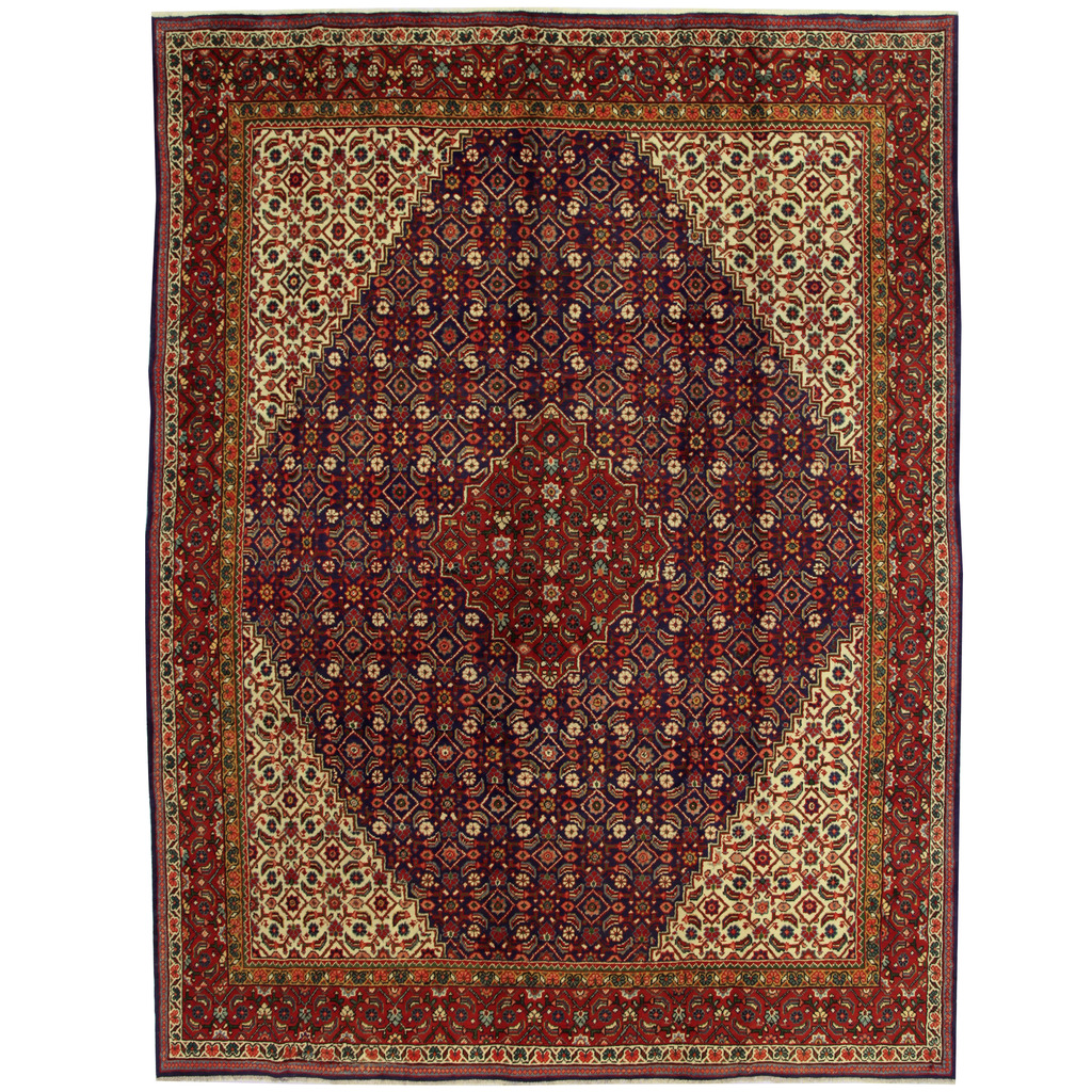 Persian Hand-knotted Mahal Wool Rug (9'11 x 12'8)