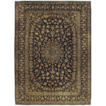 Persian Hand-knotted Kashan Wool Rug (10'3 x 14'1) 1