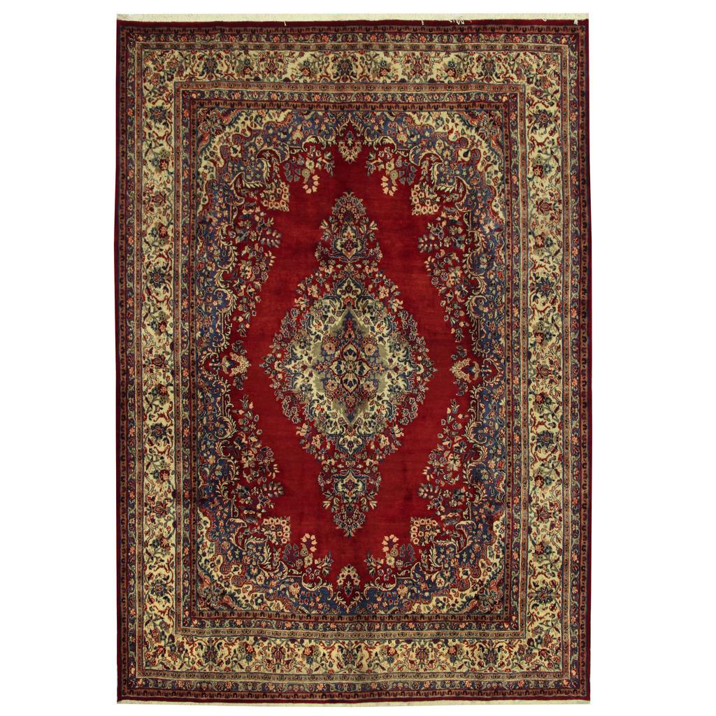 Persian Hand-knotted Hamadan Wool Rug (9′ x 12'10)