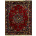Persian Hand-knotted Tabriz Wool Rug (10' x 12'10) 1