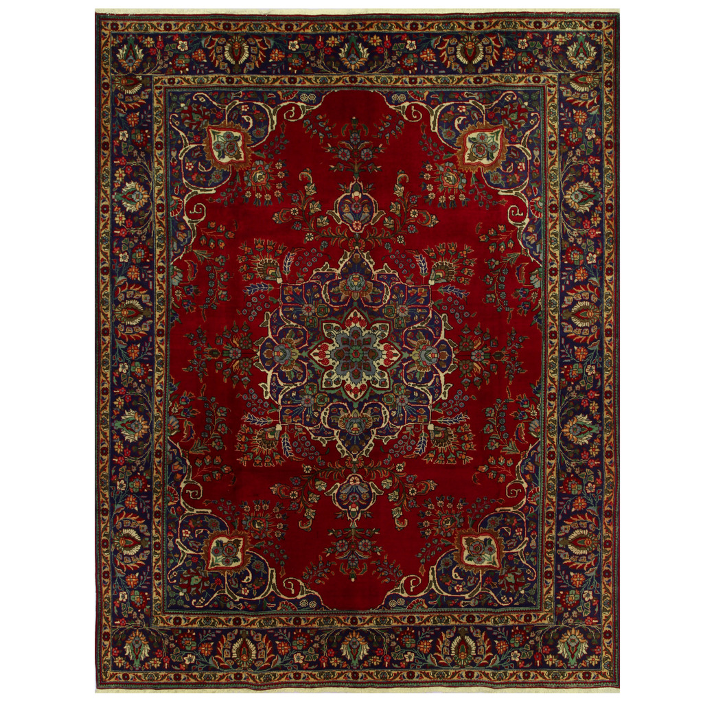 Persian Hand-knotted Tabriz Wool Rug (10′ x 12'10)