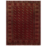 Persian Hand-knotted Turkoman Wool Rug (9'11 x 12'9) 1