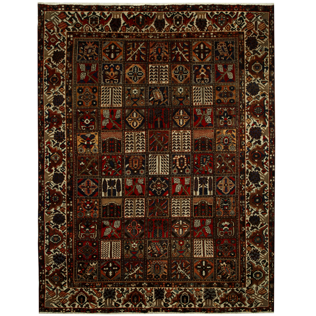 Persian Hand Knotted Tribal Bakhtiari Wool Rug
