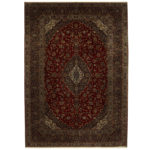 Persian Hand-knotted Tribal Kashan Wool Rug (9'5 x 13'2) 1