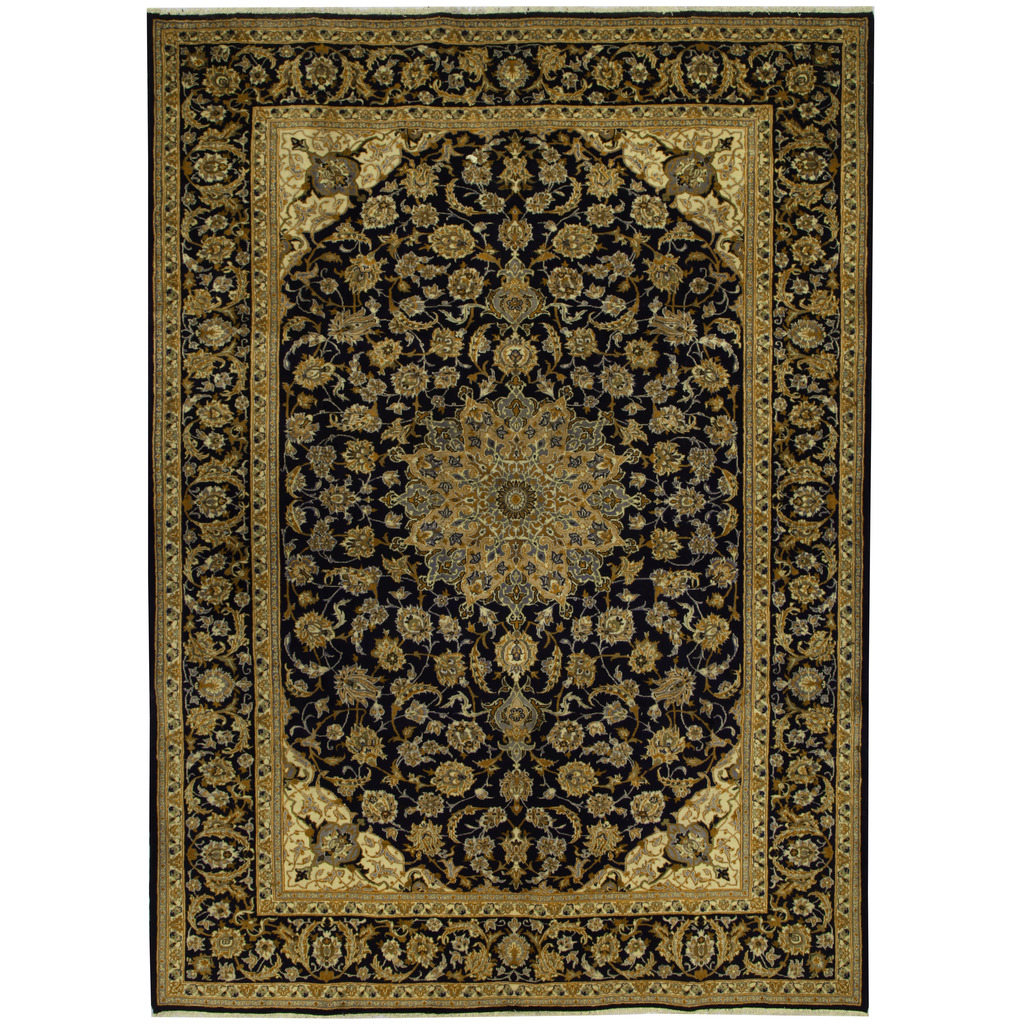 Persian Hand Knotted Tribal Isfahan Wool Rug 9 X 13 6