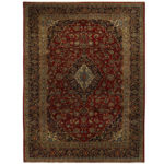 Persian Hand-knotted Tribal Kashan Wool Rug (9'9 x 13'2) 1