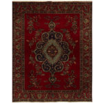 Persian Hand-knotted Tribal Tabriz Wool Rug (10' x 12'8) 1