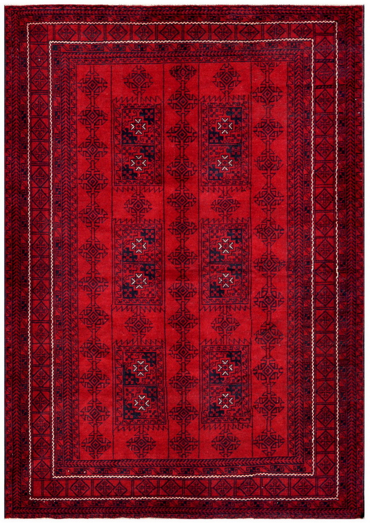 Afghan Hand-knotted Tribal Balouchi Wool Rug (6'1 x 8'10)