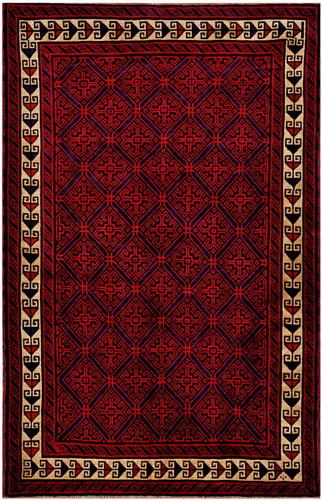 Afghan Hand-knotted Tribal Balouchi Wool Rug (5'10 x 9'3)