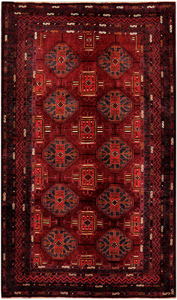 Afghan Hand Knotted Tribal Balouchi Wool Rug
