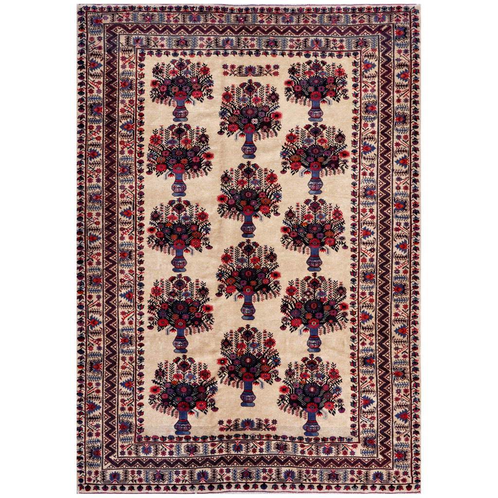 Afghan Hand-knotted Tribal Balouchi Wool Rug (6'11 x 9'8)