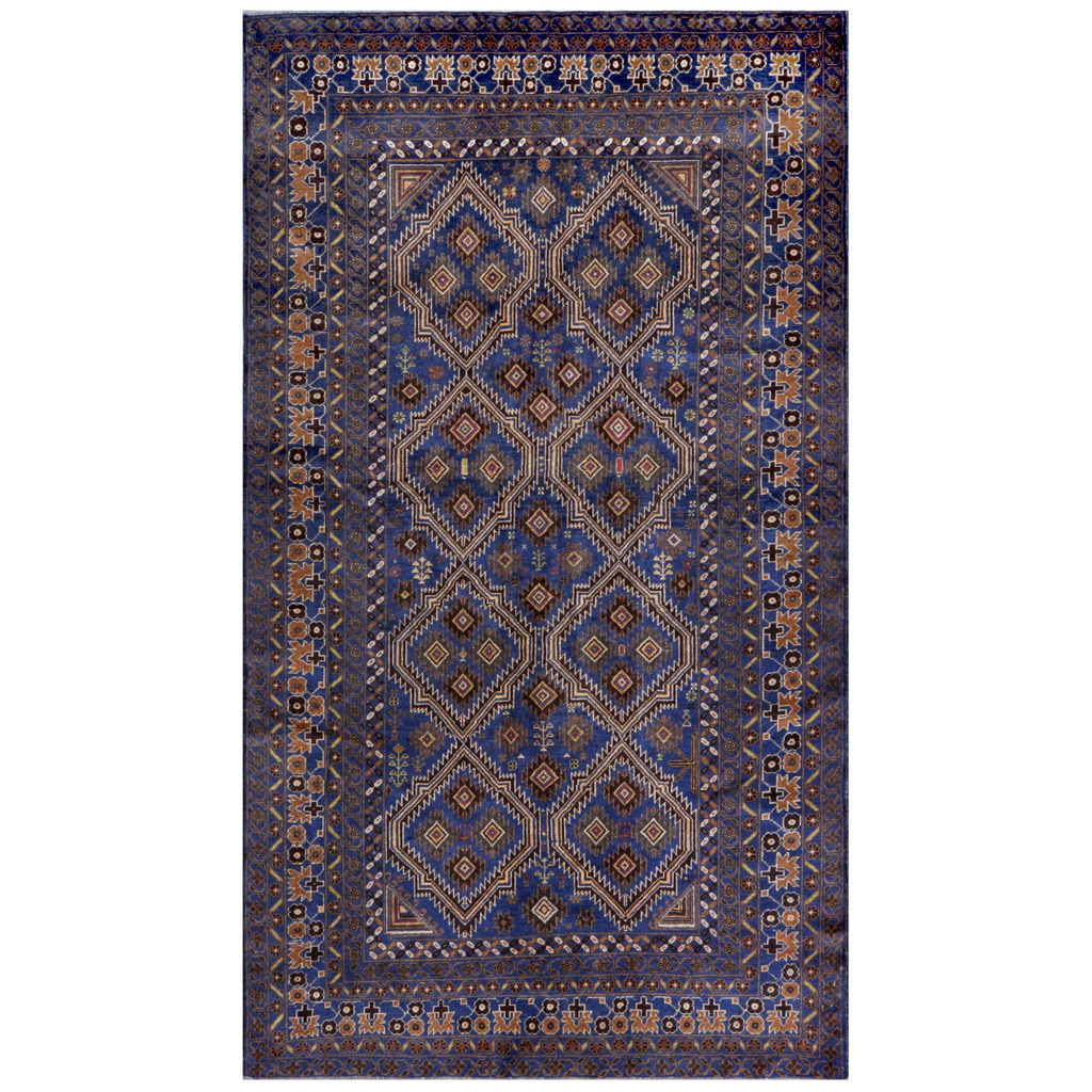 Afghan Hand-knotted Tribal Balouchi Wool Rug (5'4 x 9'5)