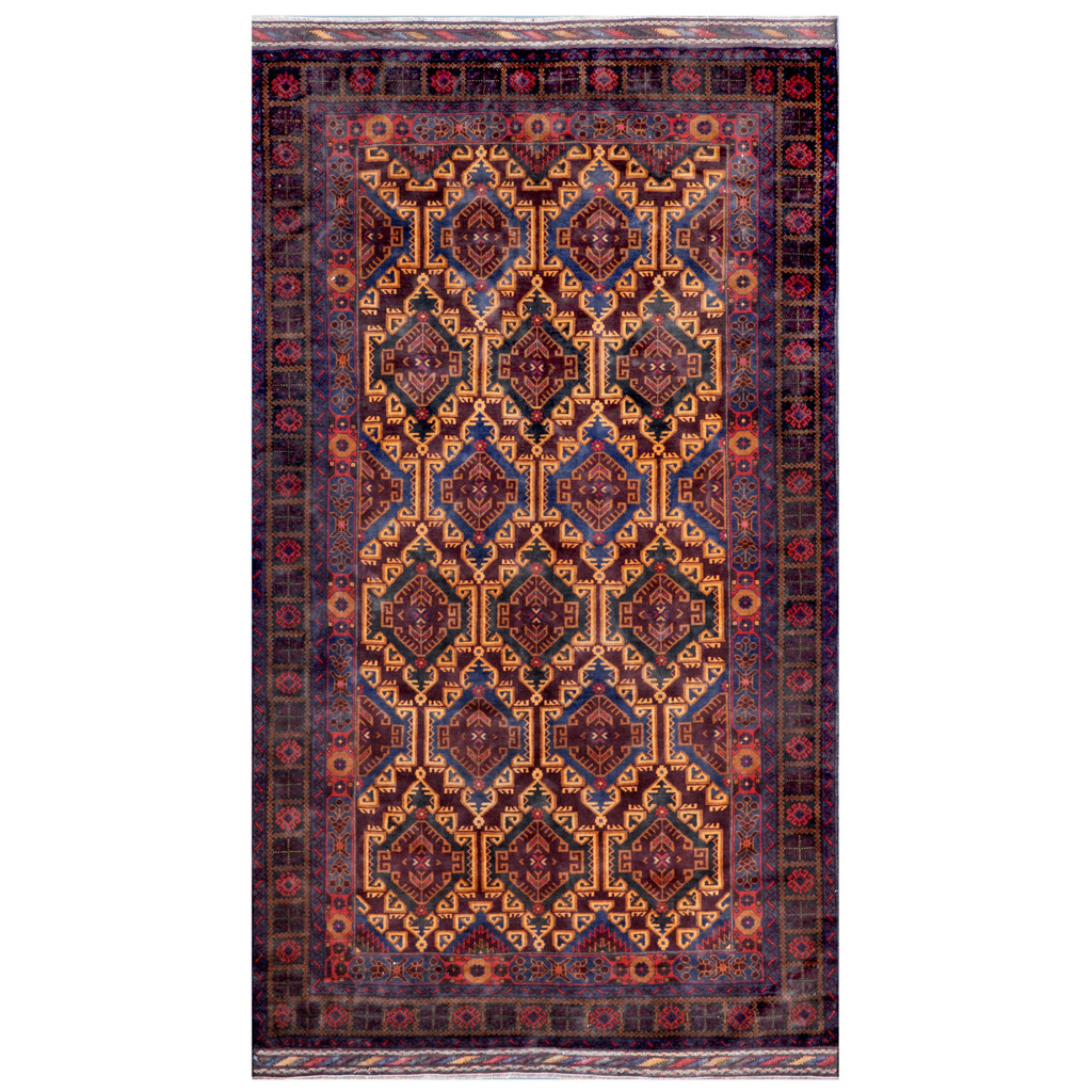 Afghan Hand-knotted Tribal Balouchi Wool Rug (5'3 x 9'6)