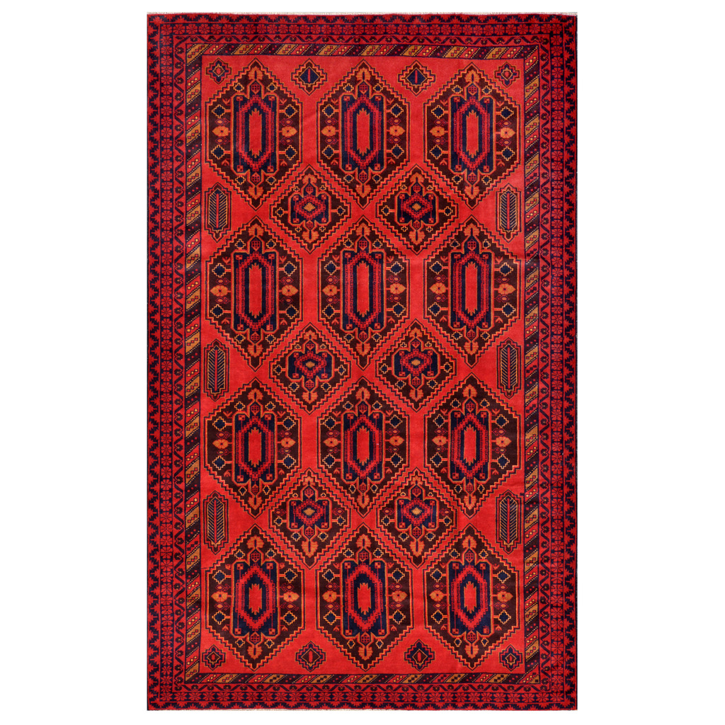 Afghan Hand-knotted Tribal Balouchi Wool Rug (8'2 x 13'2)