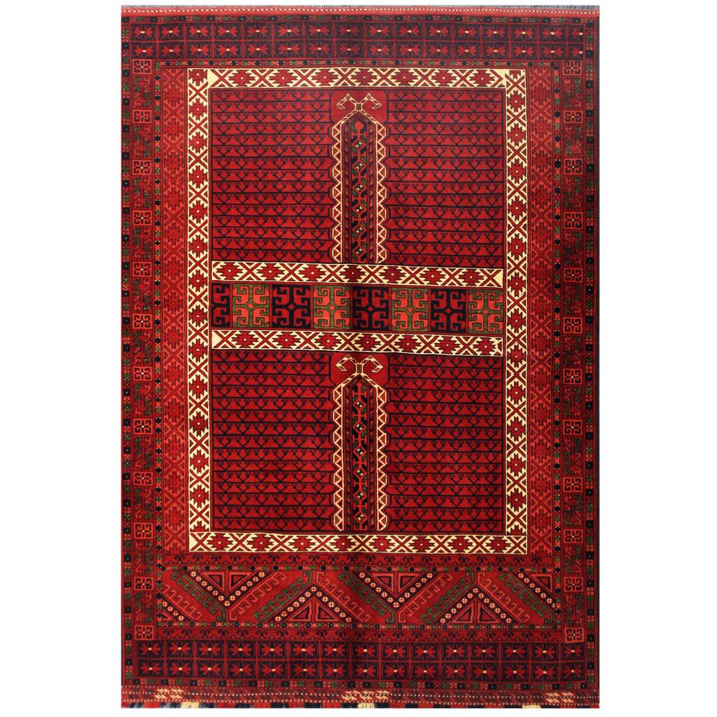 Afghan Hand-knotted Tribal Kargahi Wool Rug (6' X 8'6