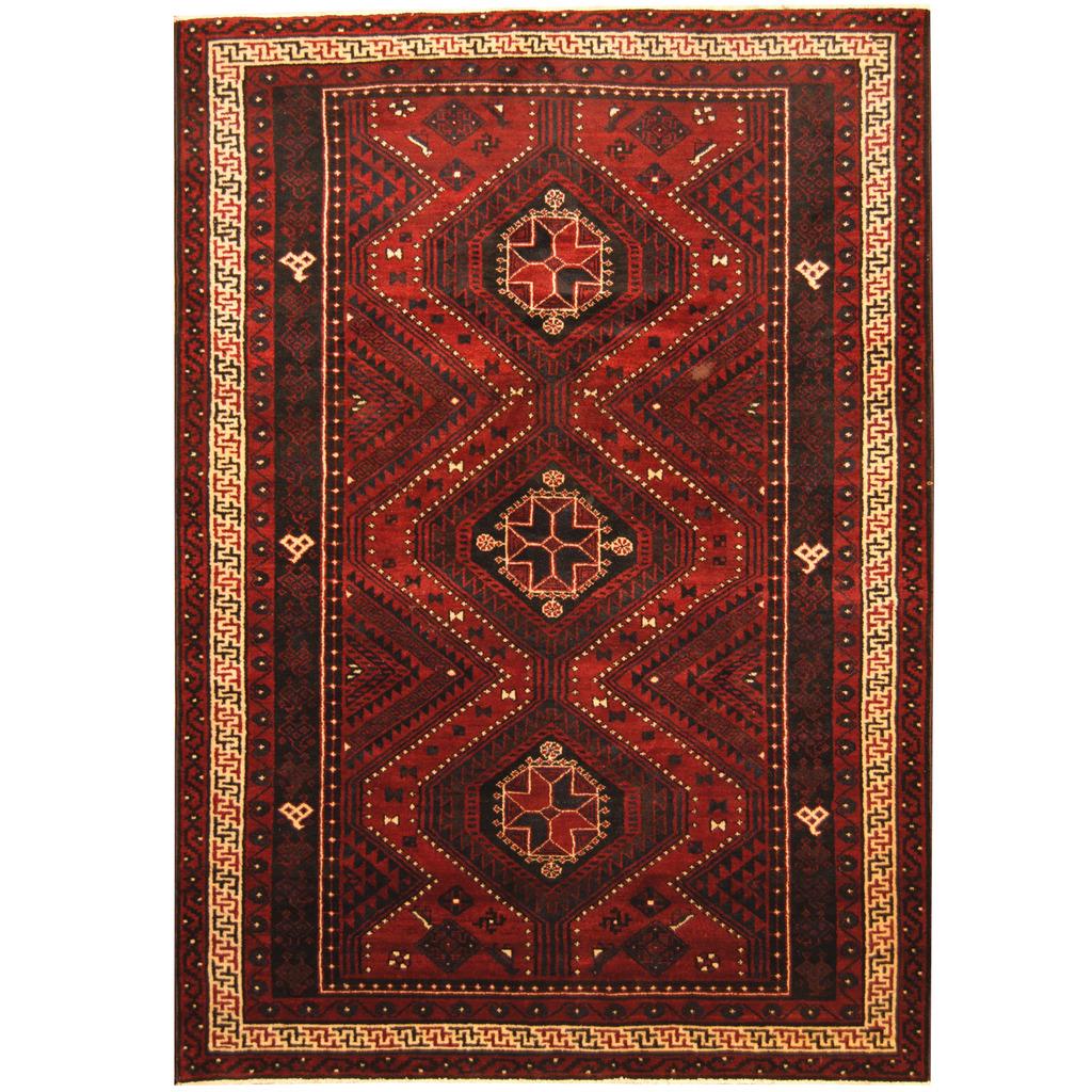 Afghan Hand-knotted Tribal Balouchi Wool Rug (6'9 X 9'8