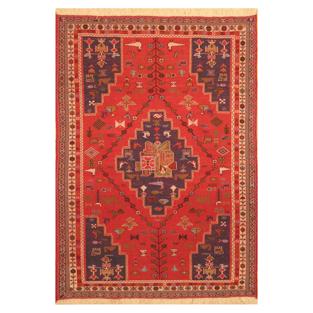 Persian Hand Knotted Afshar Wool Rug 4 4 X 6 2 Herat Oriental Rugs