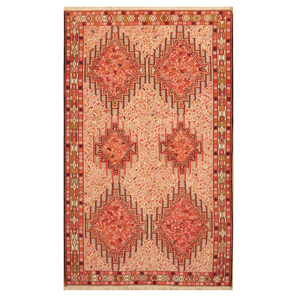 Persian Hand Woven Soumak Silk Rug 4 X 6 6 Herat Oriental Rugs
