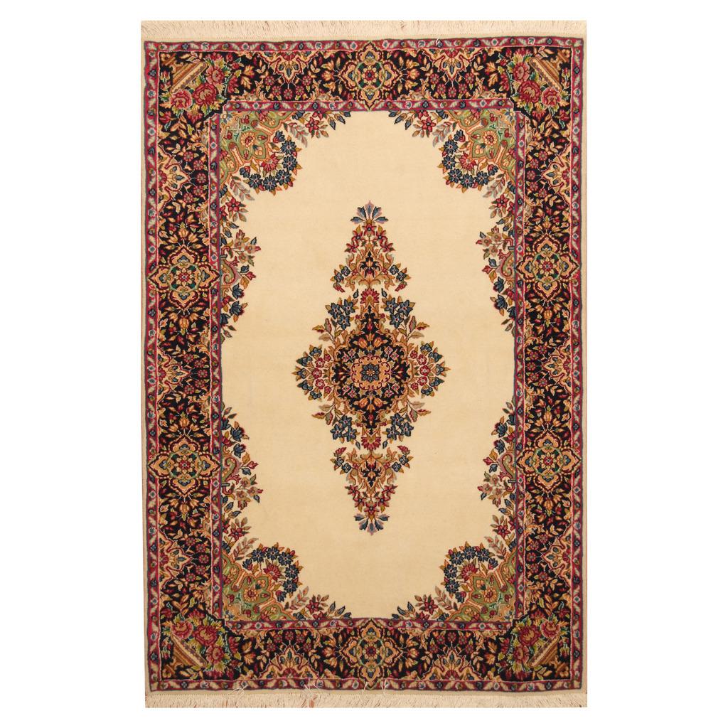 Persian Hand Knotted 1940s Kerman Wool Rug 4 X 6 2 Herat