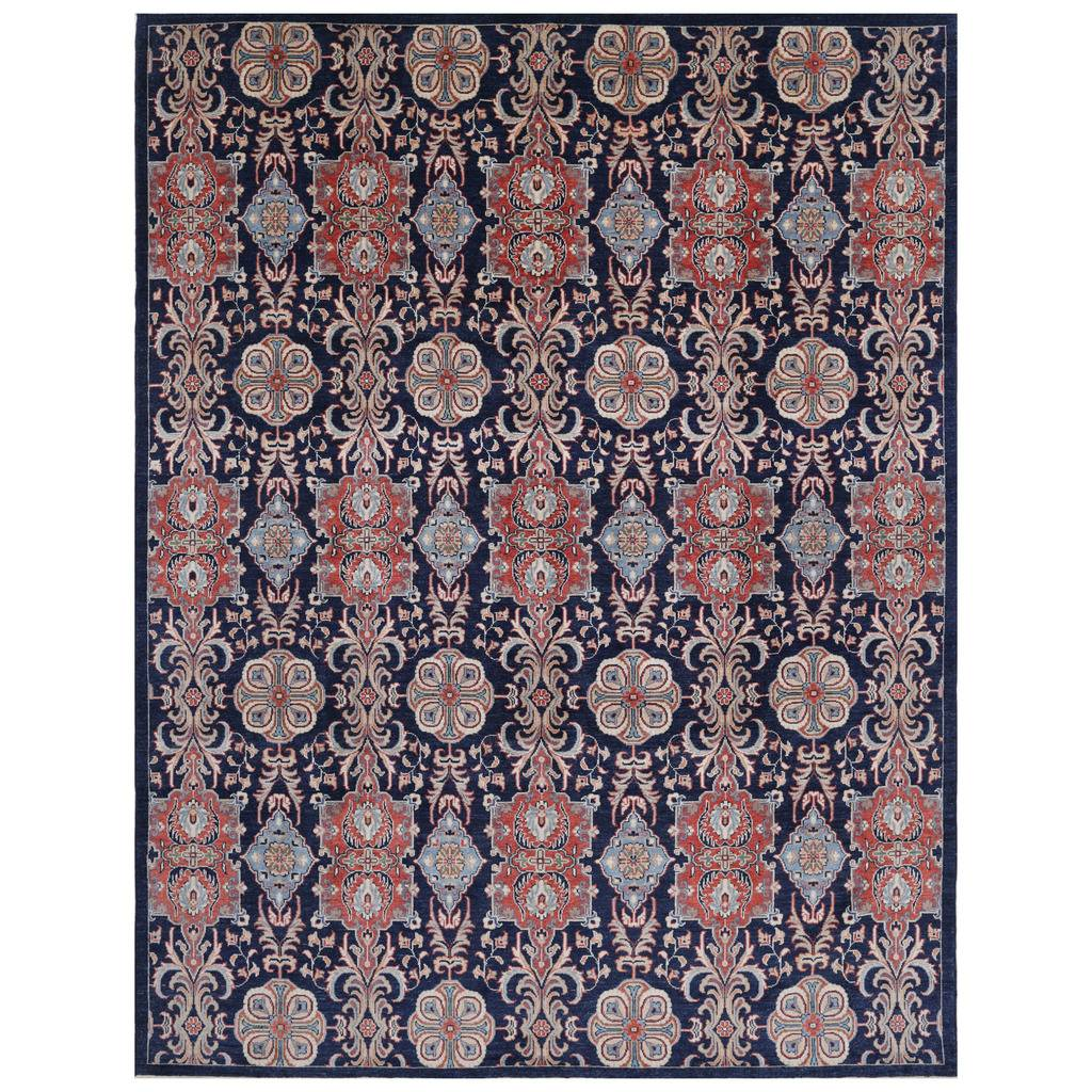 Afghan Hand-knotted Vegetable Dye Khotan Wool Rug (10′ x 13'5)