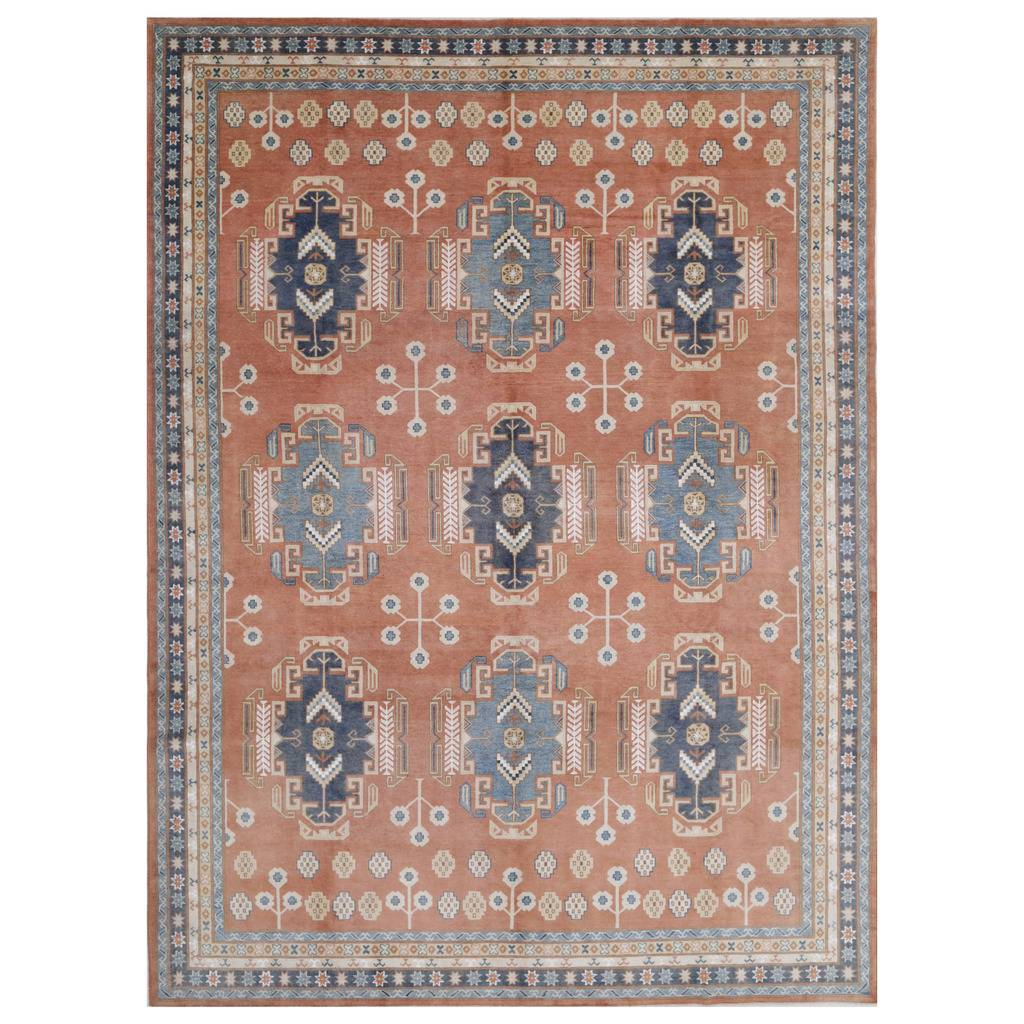 Afghan Hand Knotted Vegetable Dye Kazak Wool Rug 10 7 X 14 8