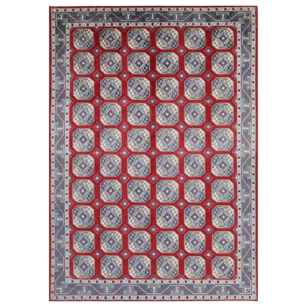 Afghan Hand-knotted Vegetable Dye Turkoman Wool Rug (10'2 x 15′)