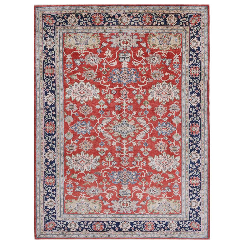 Afghan Hand-knotted Vegetable Dye Oushak Wool Rug (8'9 x 11'10)