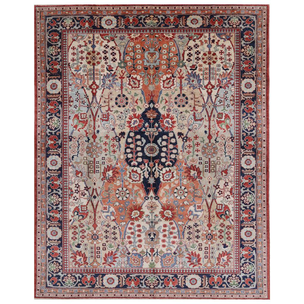 Afghan Hand-knotted Vegetable Dye Bakhtiari Wool Rug (9′ x 11'7)