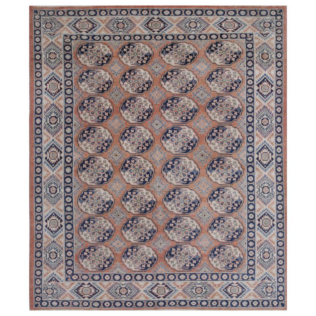 Afghan Hand-knotted Vegetable Dye Turkoman Wool Rug (8'2 x 10′)