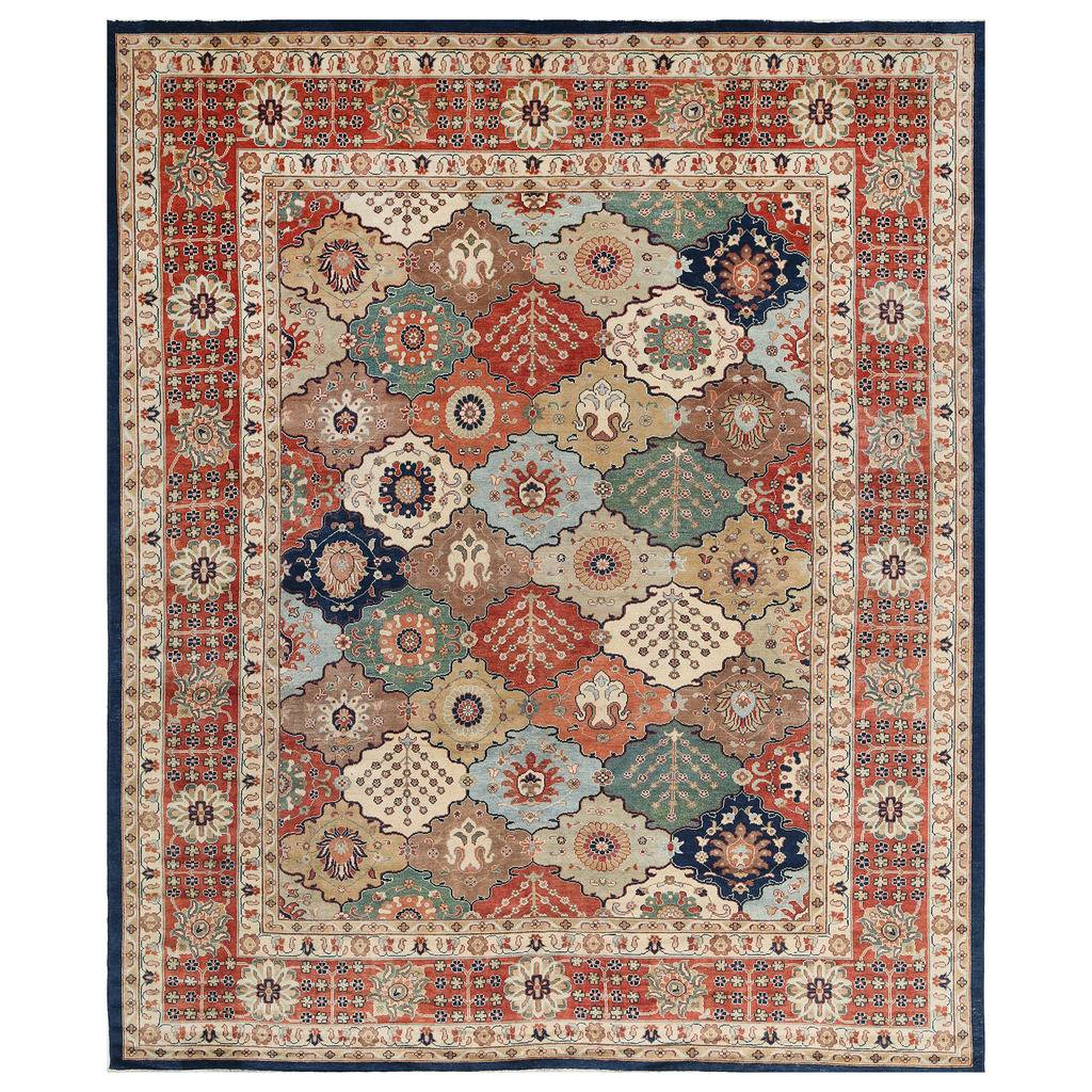 Afghan Hand-knotted Vegetable Dye Bakhtiari Wool Rug (12'1 x 14'5)