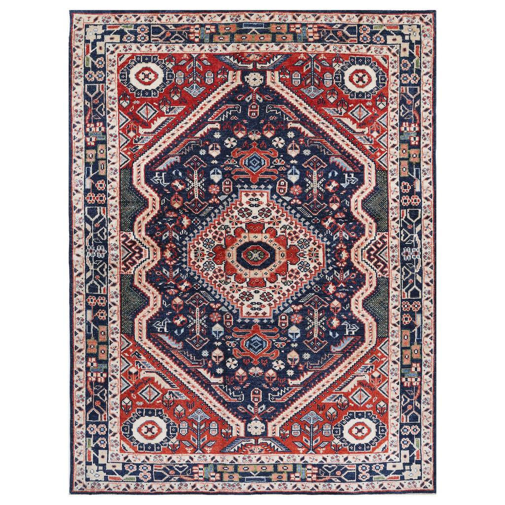 Afghan Hand-knotted Vegetable Dye Farahan Wool Rug (5'5 x 7'4)