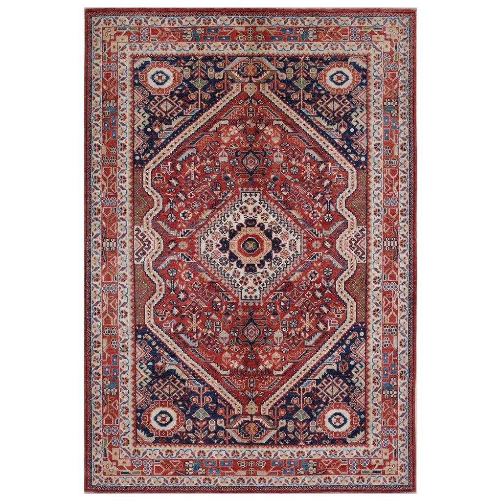 Afghan Hand-knotted Vegetable Dye Farahan Wool Rug (5'7 x 8'2)