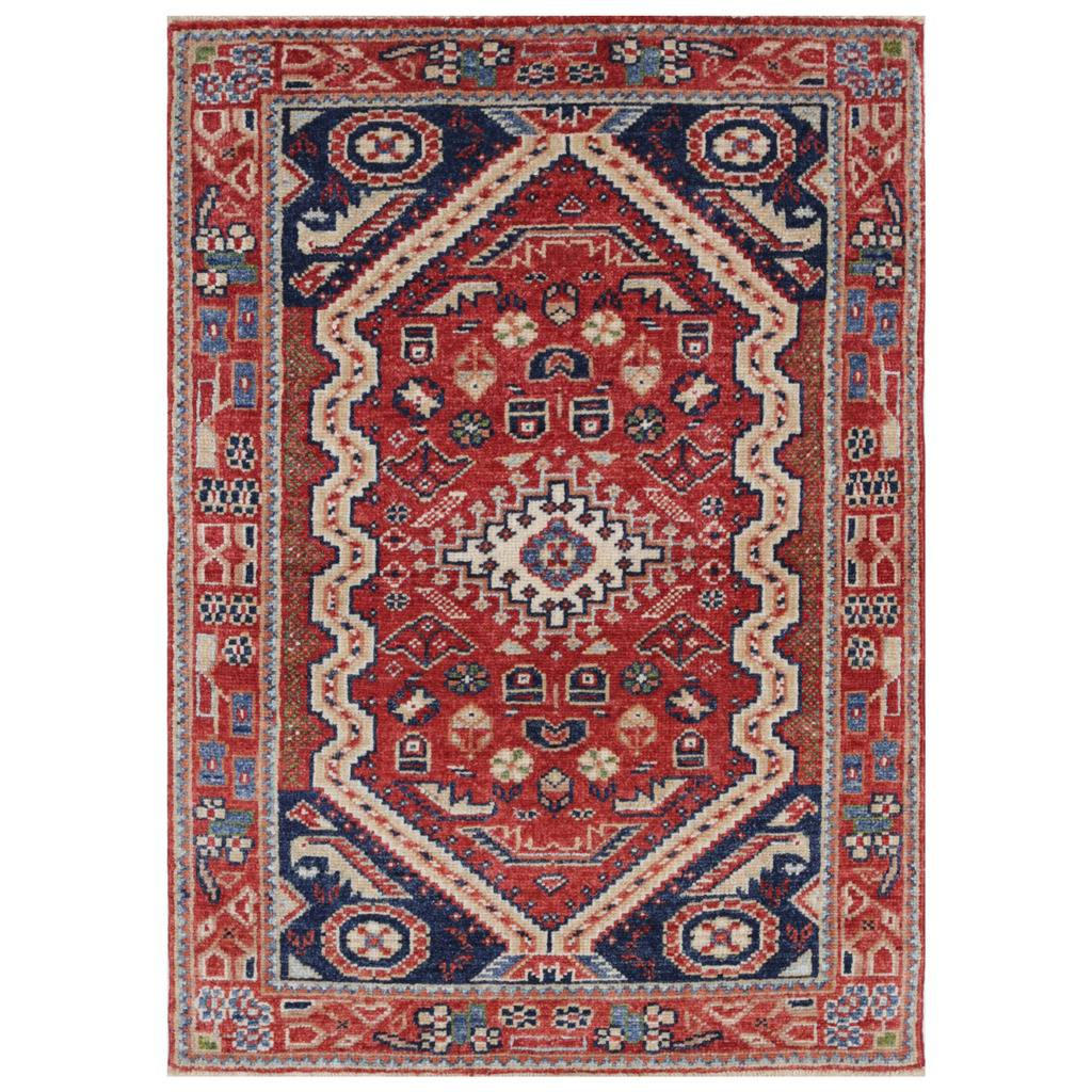 Afghan Hand-knotted Vegetable Dye Farahan Wool Rug (3'2 x 4'6)