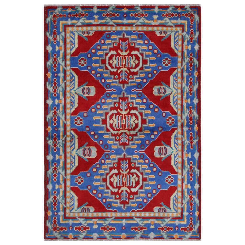 Afghan Hand Knotted Kargahi Wool Rug 3 3 X 5 Herat Oriental Rugs