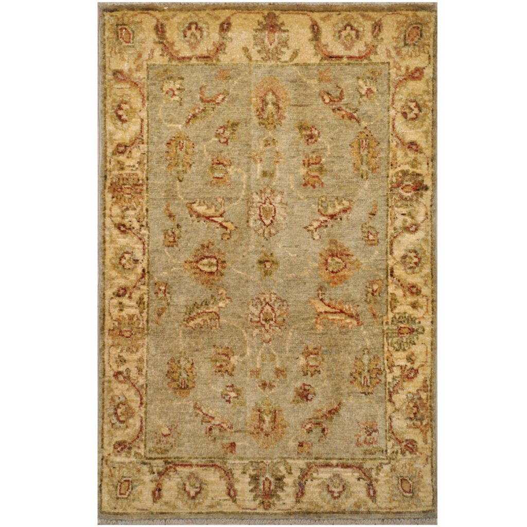 Afghan Hand Knotted Vegetable Dye Oushak Wool Rug 2 X 3