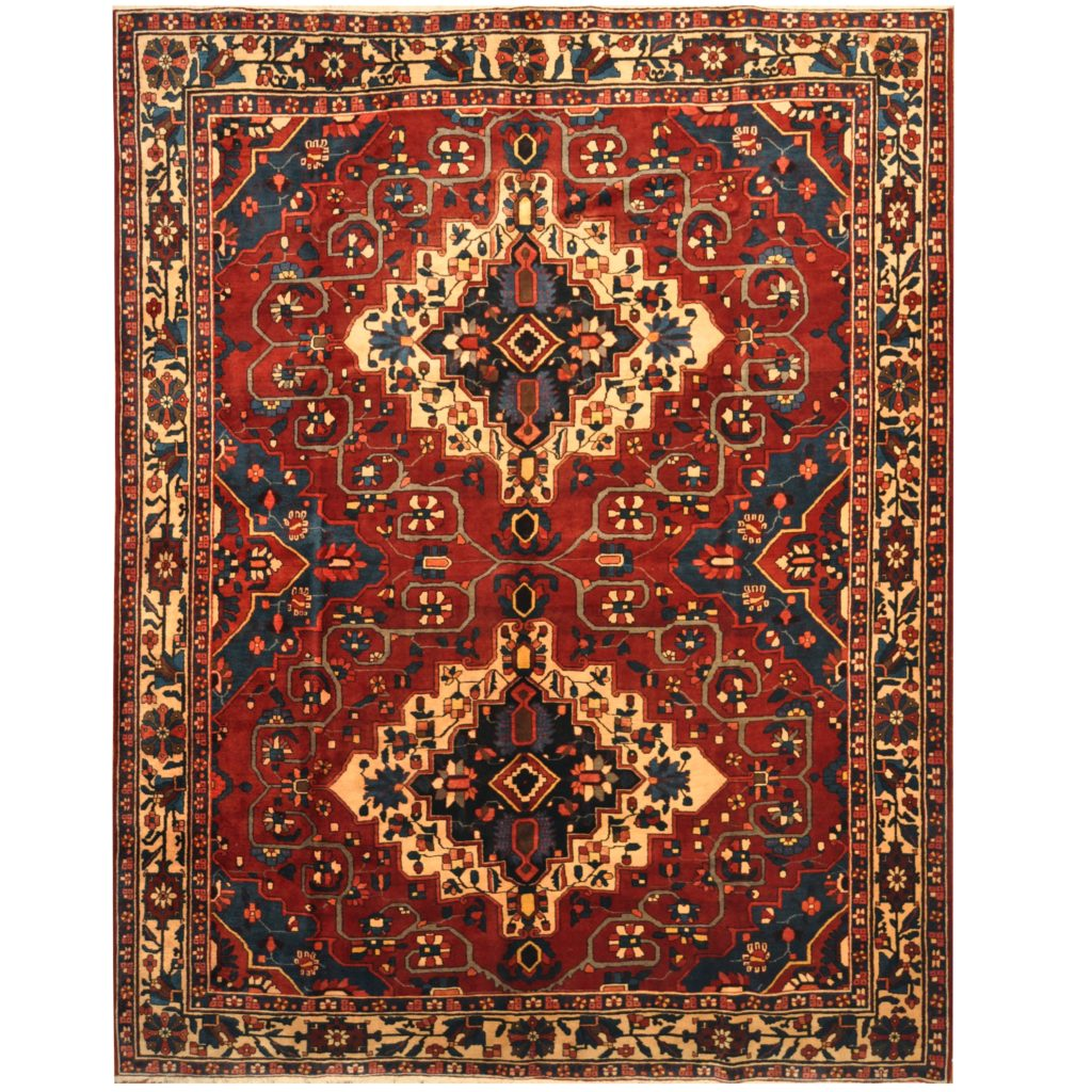 Persian Hand Knotted 1960 S Semi Antique Bakhtiari Wool