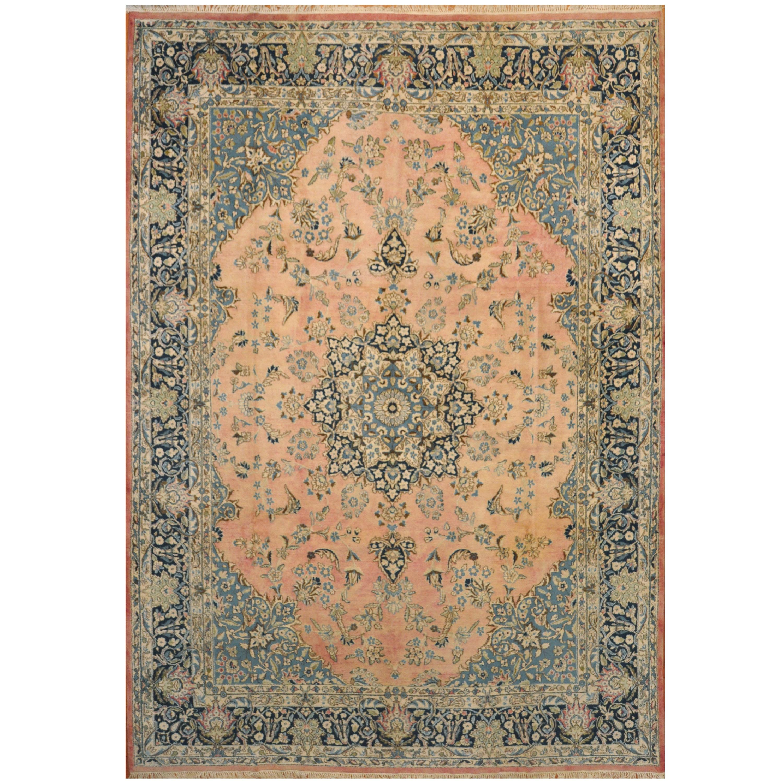 Antique Kashan Wool Rug