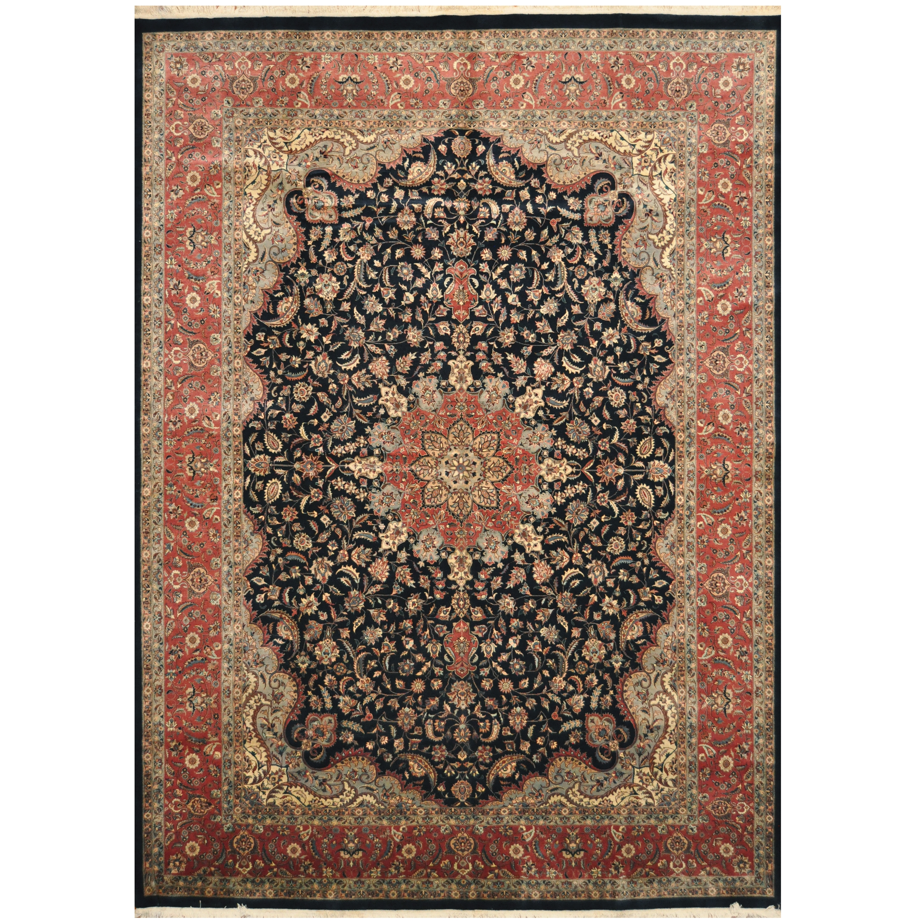 Stani Hand Knotted Kashan Wool Rug 10 X 14