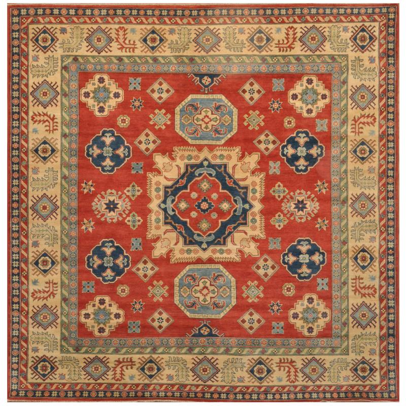 Afghan Hand Knotted Kazak Wool Rug 9 2
